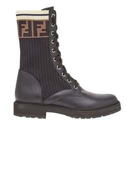 Fendi          Rockoko Combat Boots by Fendi