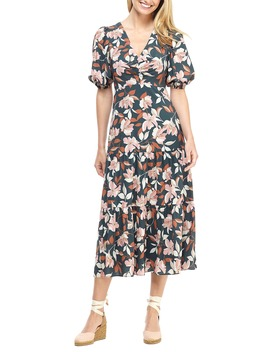 tegan-floral-print-tiered-midi-dress by gal-meets-glam-collection