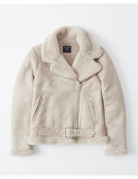 faux-shearling-moto-jacket by abercrombie-&-fitch