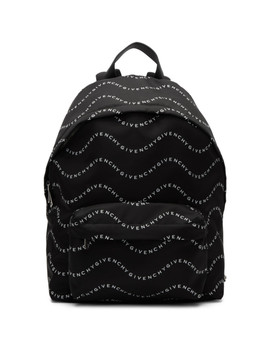 black-&-white-logo-urban-backpack by givenchy