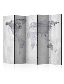 marrakech-concrete-map-5-panel-room-divider by world-menagerie