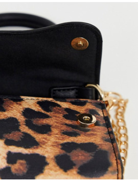 asos-design-leopard-micro-grab-bag-with-curved-flap-and-detachable-strap by asos-design