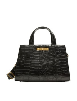 Croc Effect Tote Bag by Mango