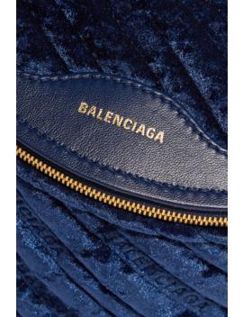 souvenir-xxs-aj-velvet-and-leather-belt-bag by balenciaga