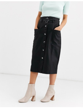 pieces-leather-look-midi-skirt-with-belt-detail by pieces
