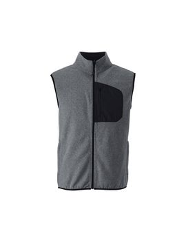 grey-midweight-fleece-gilet by lands-end