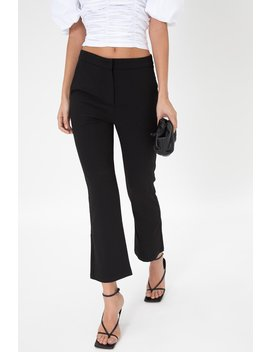 Classic Kick Flare Trousers   Black by Style Addict