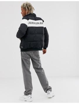 Дутая-куртка-с-полосой-на-груди-calvin-klein-jeans by calvin-klein