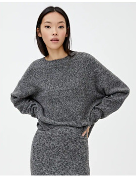 sweater-em-preto-de-malha-de-torçal by pull-&-bear