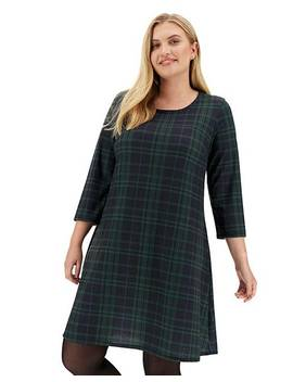 green-check-swing-dress by simply-be