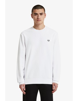 Towelling Laurel Wreath Sweatshirt by Fred Perry