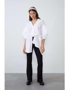 camisa-larga-popelín by zara