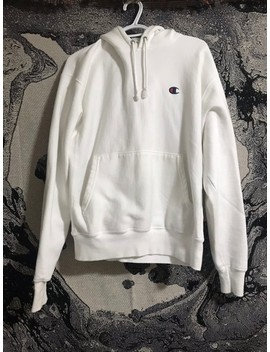 white-reverse-weave-champion-hoodie by champion  ×