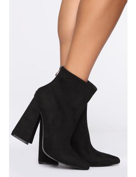take-a-chance-on-me-booties---black by fashion-nova