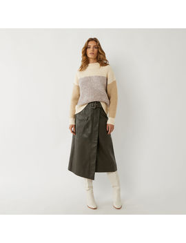 boucle-blocked-funnel-jumper by warehouse