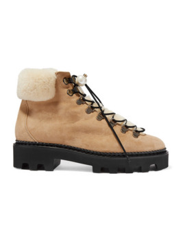 delfi-faux-pearl-embellished-suede-and-shearling-ankle-boots by nicholas-kirkwood