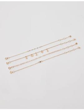 pacco-4-braccialetti-dorati-spazio by pull-&-bear