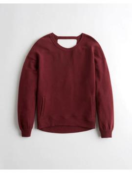 open-back-oversized-sweatshirt by hollister
