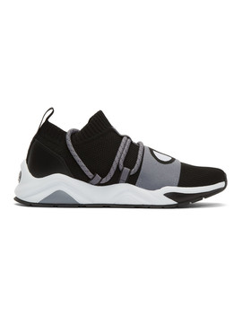 black-rally-hype-sneakers by champion-reverse-weave