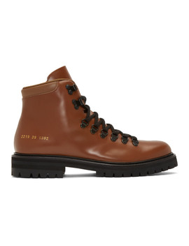 tan-leather-hiking-boots by common-projects
