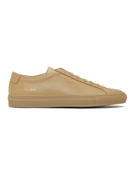 tan-achilles-low-sneakers by common-projects