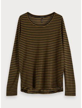 gestreept-t-shirt-met-lurex by scotch&soda
