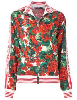 hydrangea-printed-bomber-jacket by dolce-&-gabbana