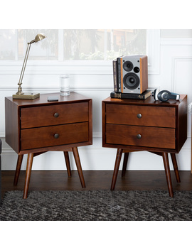 manor-park-set-of-2-mid-century-2-drawer-solid-wood-nightstand---walnut by manor-park