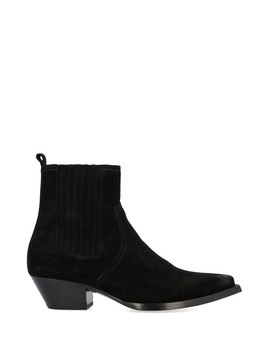 black-suede-ankle-boots by saint-laurent