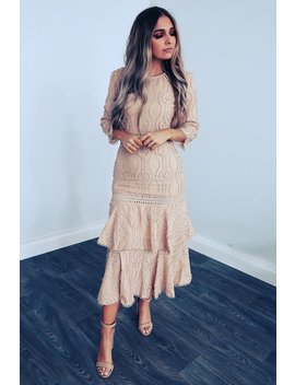 Delicate Beauty Dress: Beige by Hope's