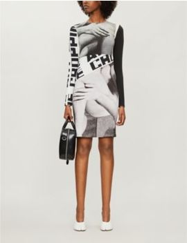 graphic-print-stretch-cotton-mini-dress by elliss