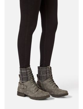 greta-lace-up-combat-boot by justfab