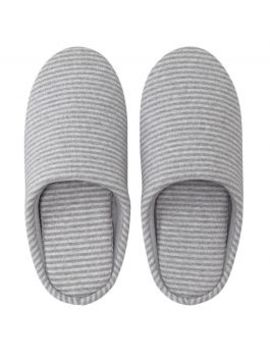 Jersey Knitted Cushion Slipper Gray Border by Muji