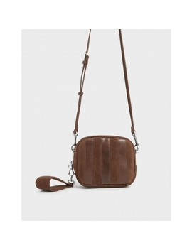 Kid Suede & Leather Mini Crossbody Bag by Charles & Keith