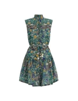 edie-drop-waist-short-dress by zimmermann