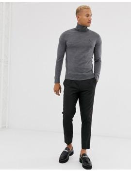 religion-fine-knit-logo-roll-neck-jumper-in-grey by religion