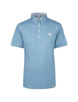 Mercerised Floral Collar Polo by Pretty Green
