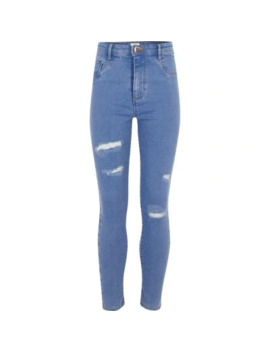 girls-blue-molly--ripped-detail-jeggings by river-island