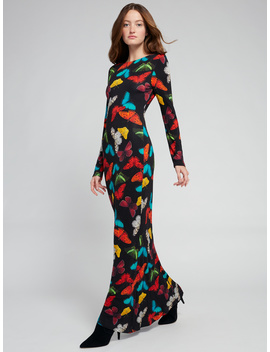 Rosaria Butterfly Maxi Dress by Alice And Olivia
