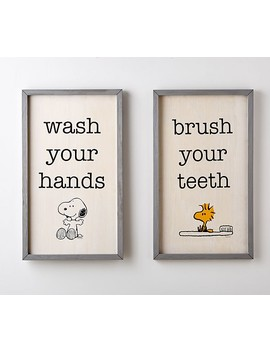 peanuts®-bathroom-art by pottery-barn-kids