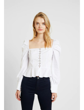 poplin-hook-and-eye-square-neck---blouse by missguided-tall