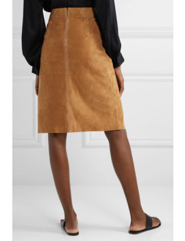 paneled-suede-skirt by frame