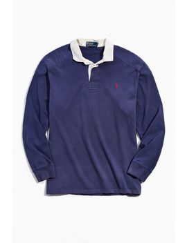 vintage-polo-ralph-lauren-washed-navy-rugby-shirt by urban-outfitters-vintage