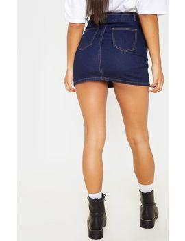 dark-wash-disco-belted-denim-mini-skirt- by prettylittlething