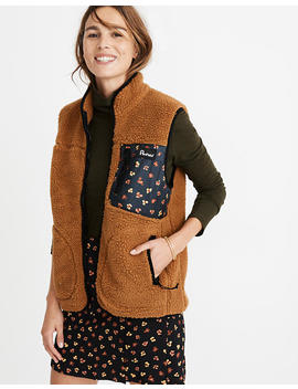 madewell-x-penfield®-lucan-fleece-vest-in-feline-floral by madewell