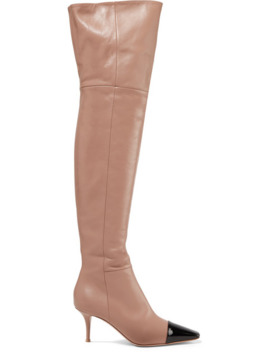 70-two-tone-leather-over-the-knee-boots by gianvito-rossi