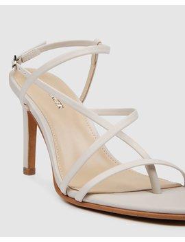 Stella High Heel Sandals Bone Leather by Jo Mercer