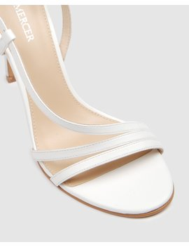 donna-high-heel-sandals-white-leather by jo-mercer