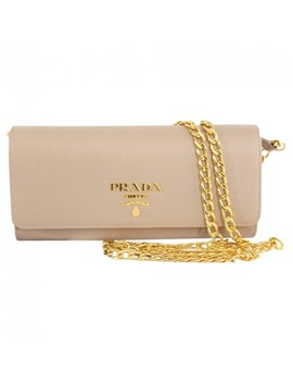 Leather Clutch Bag by Prada