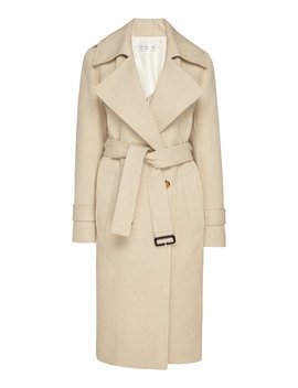 cotton-blend-trench-coat by victoria-beckham